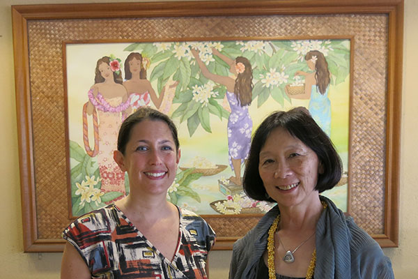 CAO Executive Committee Chair Nancy Kidd and ACLS President Pauline Yu