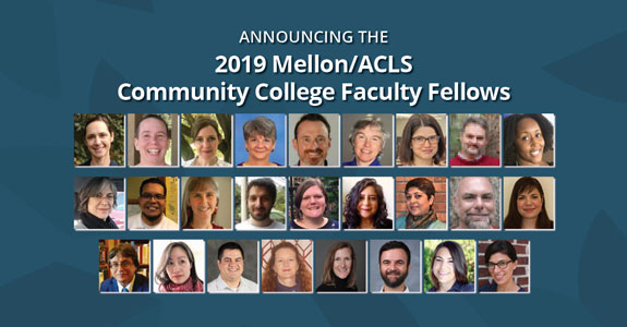 ACLS Names Inaugural Community College Faculty Fellows