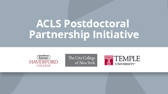 ACLS Announces Partners for Diversity-Focused Postdoctoral Fellowship Program
