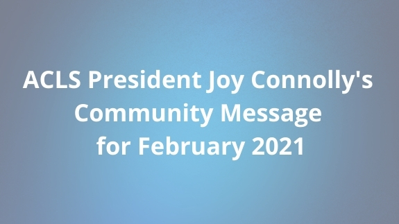February 2021 Community Message