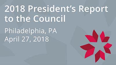 2018 President's Report to the Council